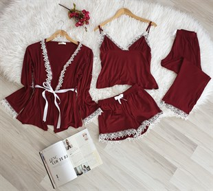 5 Li Bordo Paris Dantelli Set